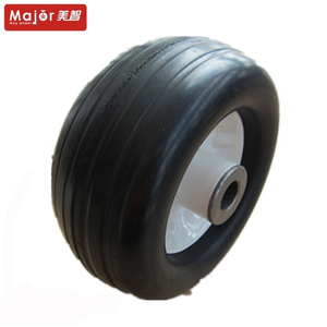 smooth tyre 6 inch small solid rubber wheel