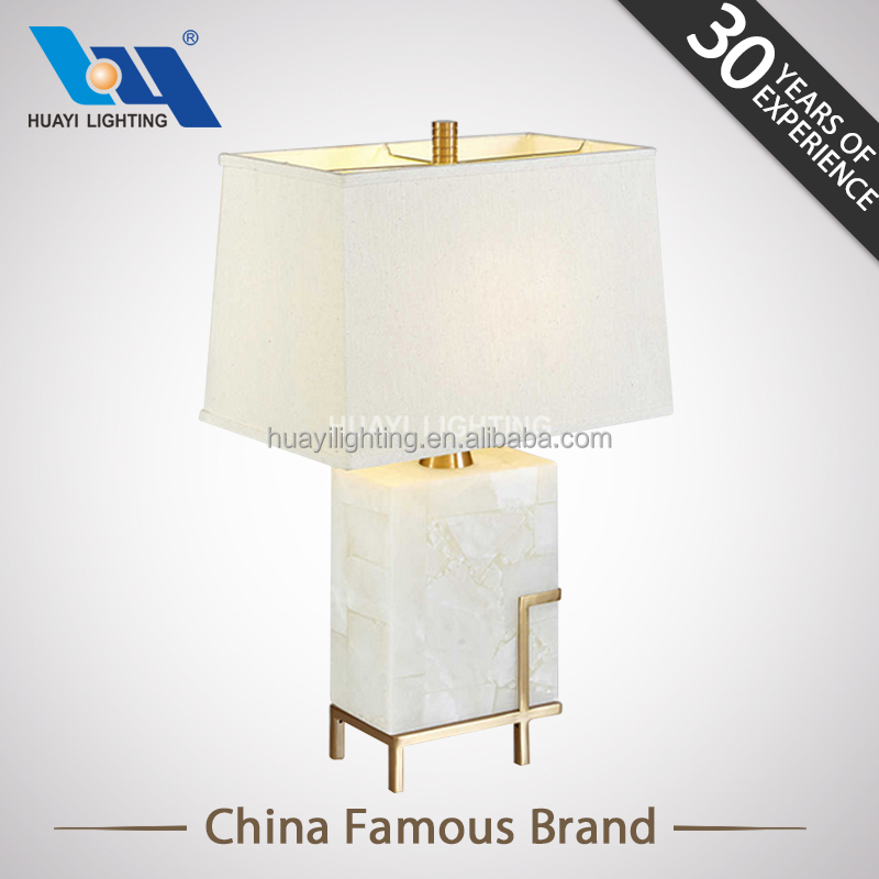 Hotel decoration home LED lighting square marble table lamp&fashionable led table lamp