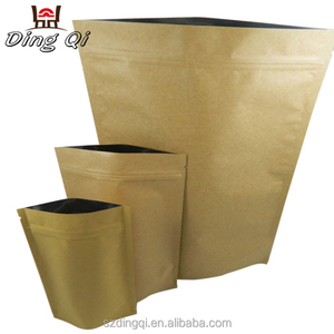 Food grade zipper heat seal paper bag roll for tea nuts protein coffee snack