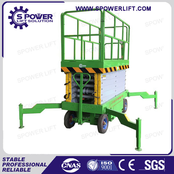 High aerial working used mobile hydraulic scissor lifts platform for sale