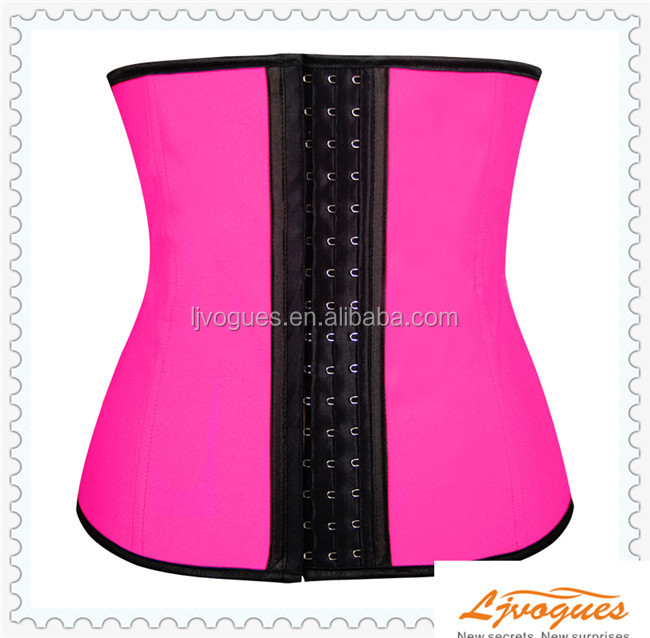 Corset Waist Cincher Girdle Waist Training Shaper Latex Faja Workout Gym