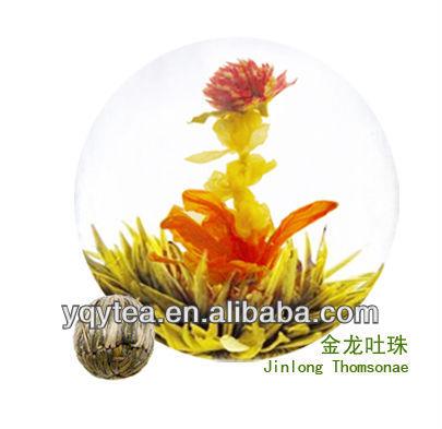 jinlongtuzhu flower handicraft green tea, Chinese tea blooming tea - 4uTea | 4uTea.com