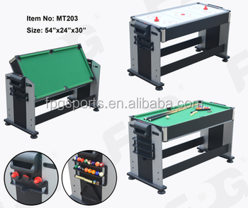 54 Inch 2 In 1 Flip Air Hockey Pool Table MT203