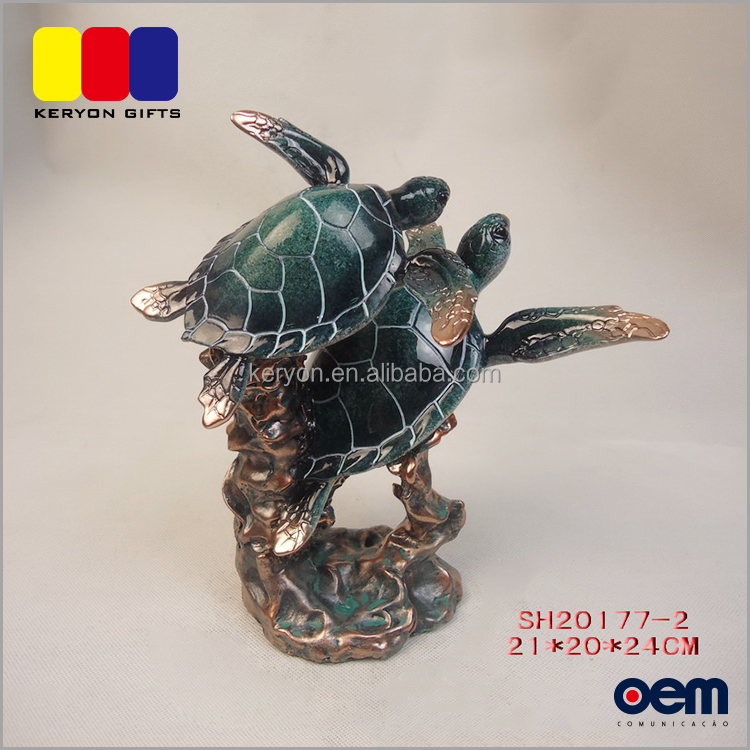 Resin Decoration Realistic Tortoise Figurine Sea Life Souvenirs