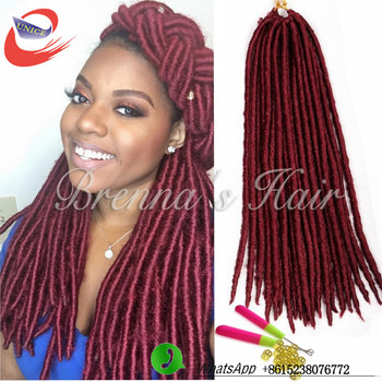 Bohemian Styles Synthetic 2x Havana Mambo Faux Locs Crochet Braids High Temperature Ombre Braiding Hair
