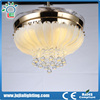 2017 Popular product ceiling fan crystal light invisible fan with 2 years warranty