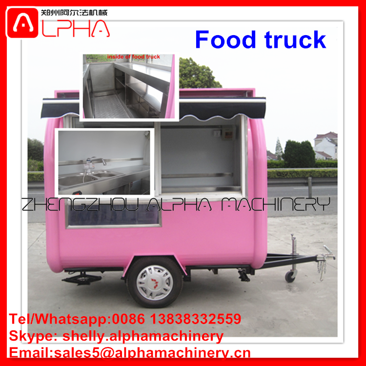 Low Price Fast Food Mobile Kitchen Trailer Truck For Sale In Malaysia