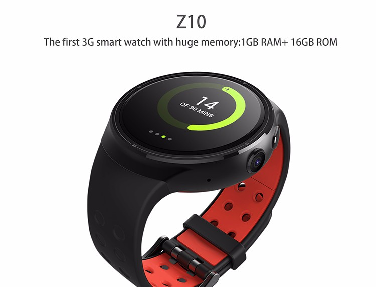 Z10 Smart Watch 1GB/16GB Wristwatch Android 3G WiFi GPS Heart Rate Monitor Support SIM Card Amoled Round Screen For iOS Android