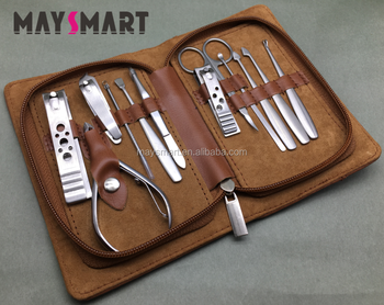 Hot Sale Manicure Tool Stainless Steel 12 pcs Manicure Set Wholesale