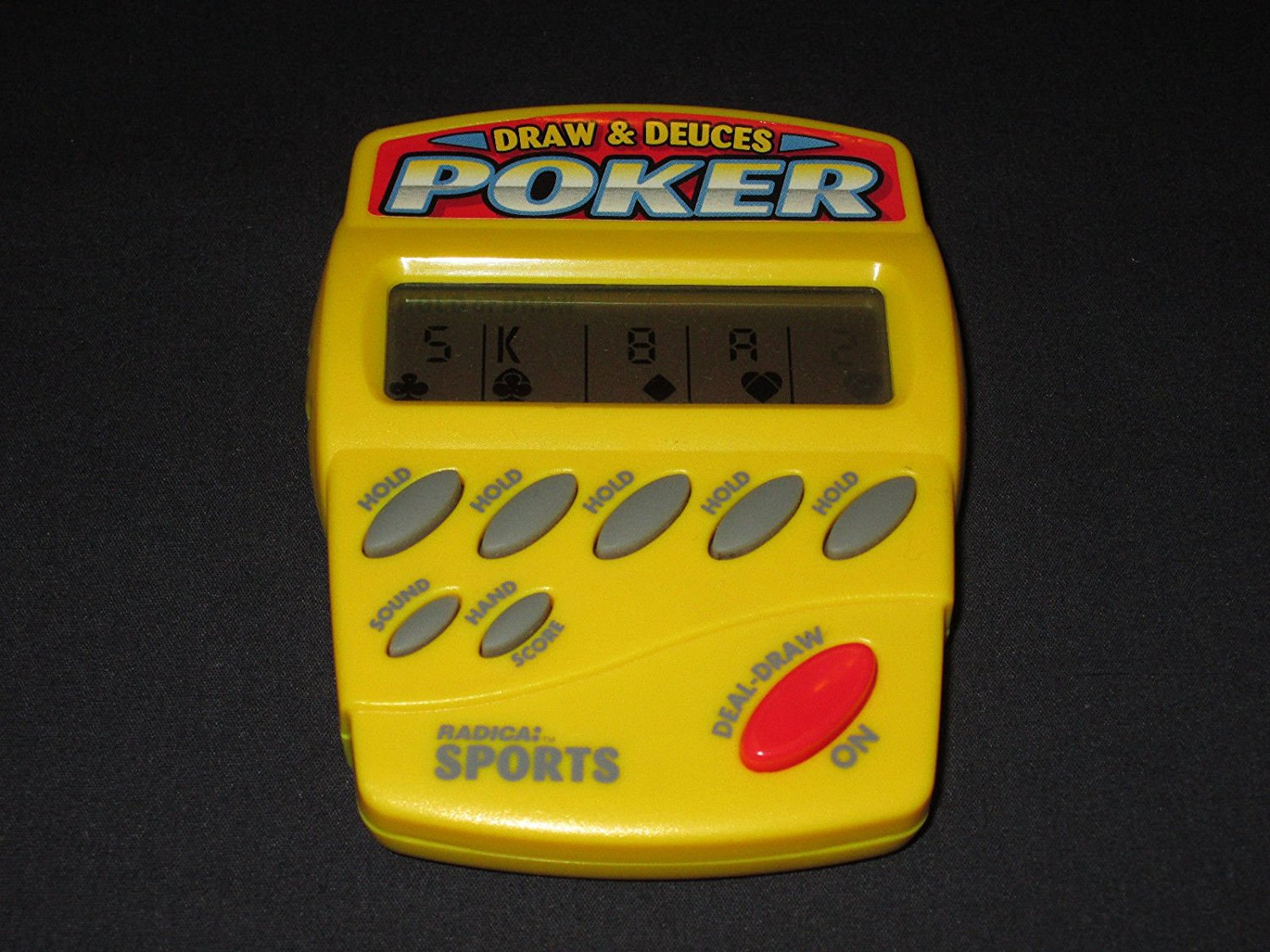 Wingsmarketshop Radica Draw and Deuces Poker Electronic Hand-Held Game - TESTED + WORKING!