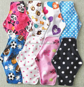 Hot sale Popular washable bamboo charcoal menstrual cloth pads for women reusable panty liner sanitary pad