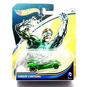 Hot Wheels, 2015 DC Comics Character Car, Green Lantern, 1:64 Scale