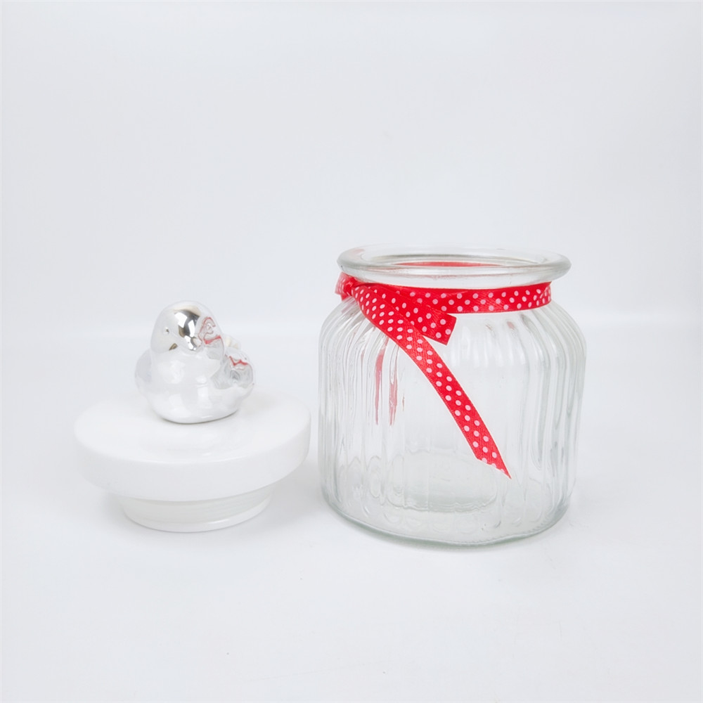 Simple Design Food Glass Jar with Lid