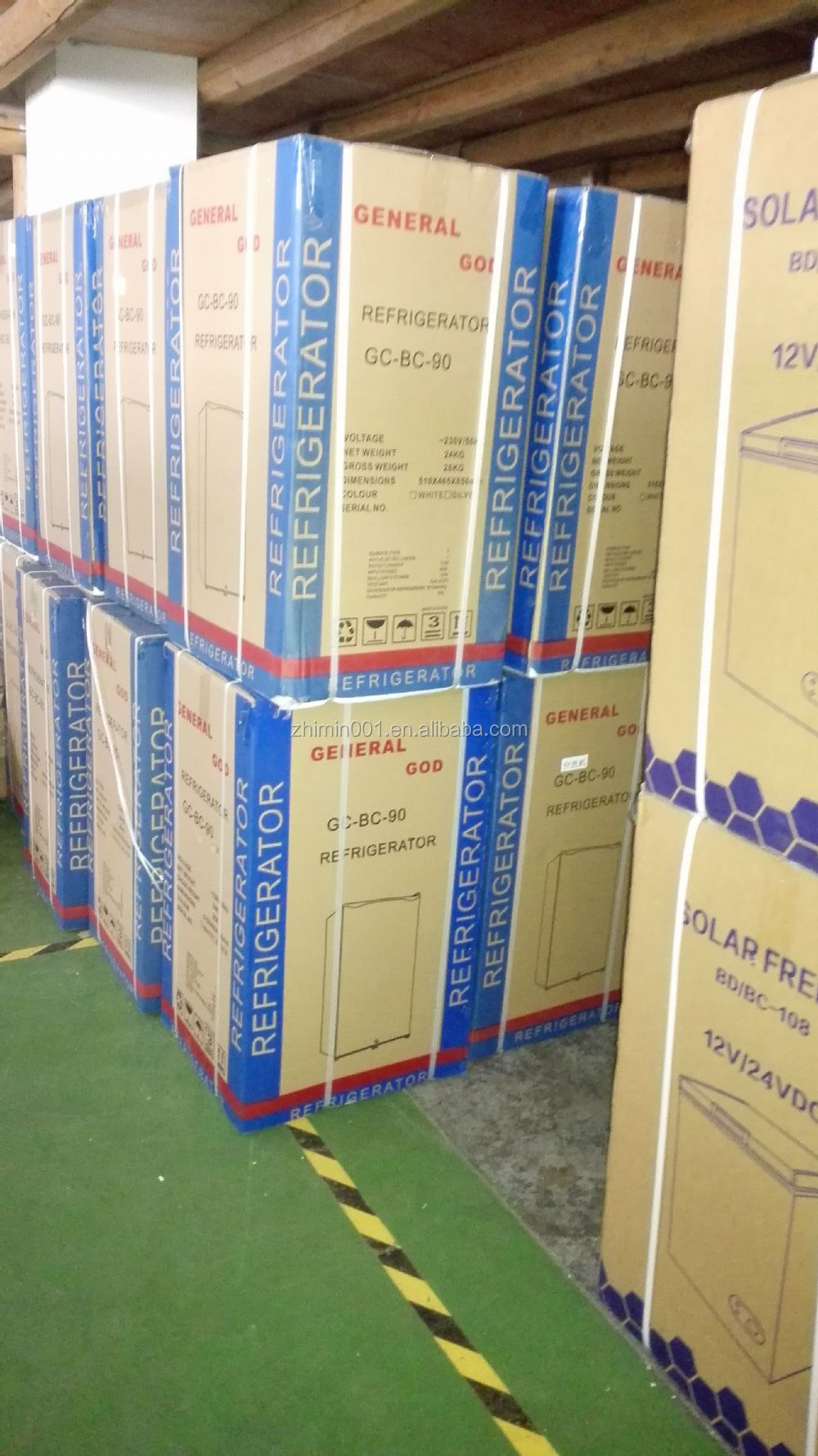 50l Dc 12v 24v Home Appliance Solar Powered Refrigerator Freezer ...