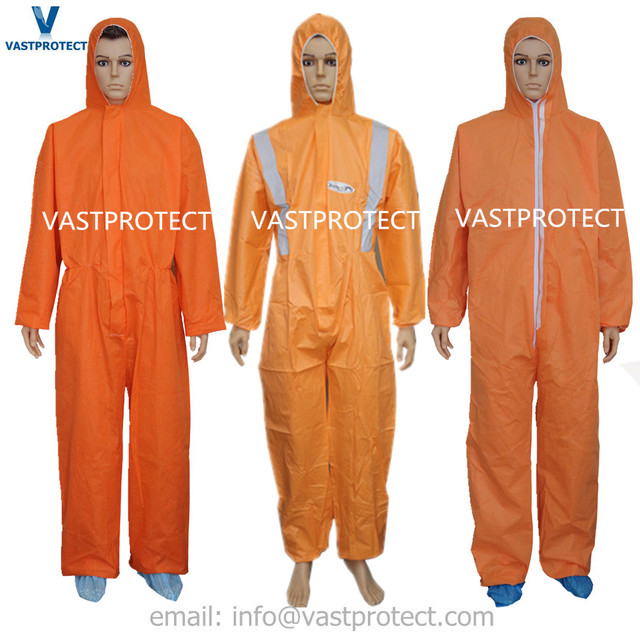Orange Disposable Painters Coveralls