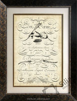 The Art of Penmanship hotel decor picture of frame