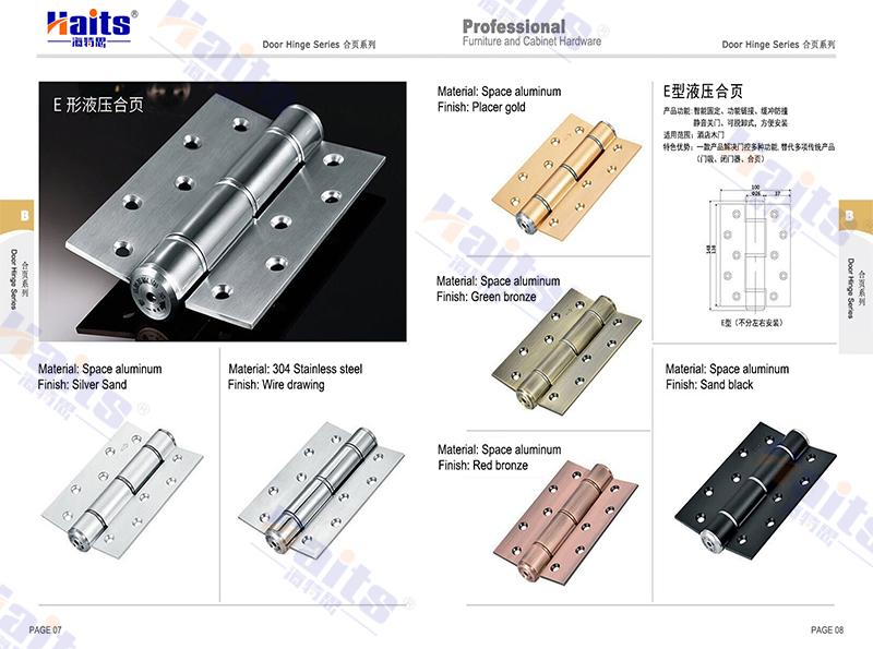 Morden Design Quick Install E-shaped Hydraulic Buffering Wooden Door ...