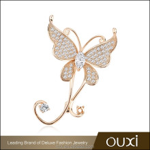 OUXI Wholesale price High quality AAA zircon christmas korean cc brooch C60026