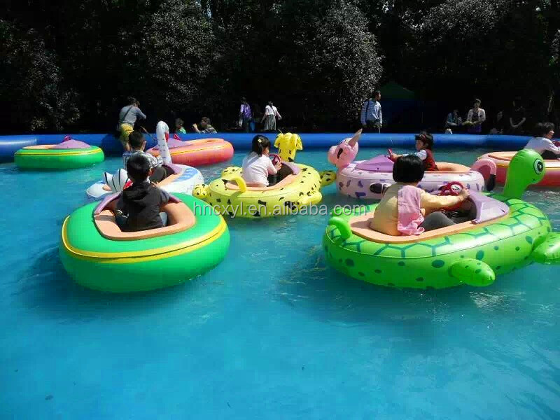 Direct Supplier Swimming Pool Electric Inflatable Bumper Boat Amusement Water Park