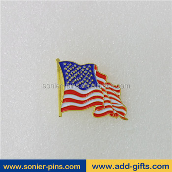 Sonier-Pins wholesale American flag lapel pins enamel lapel pin with Fast turnaround