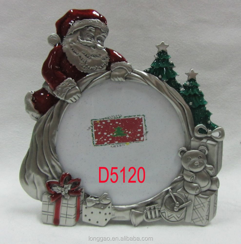 Christmas Themed Metal Photo Picture Frame
