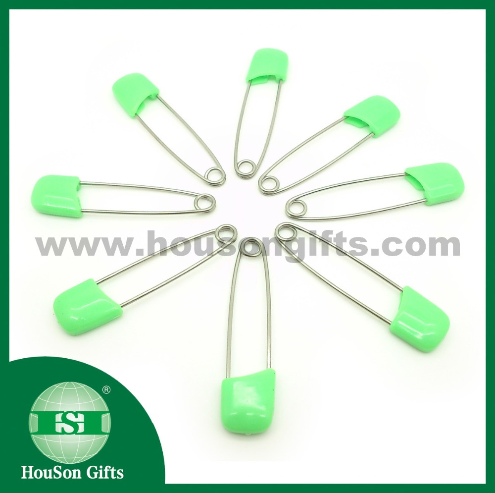 HSSP007 4cm custom logo green safety pins coloured safety pins
