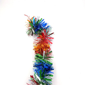 4Ply and 5cm Width and15m Length PET Tinsel /glitter garland for holiday party decoration