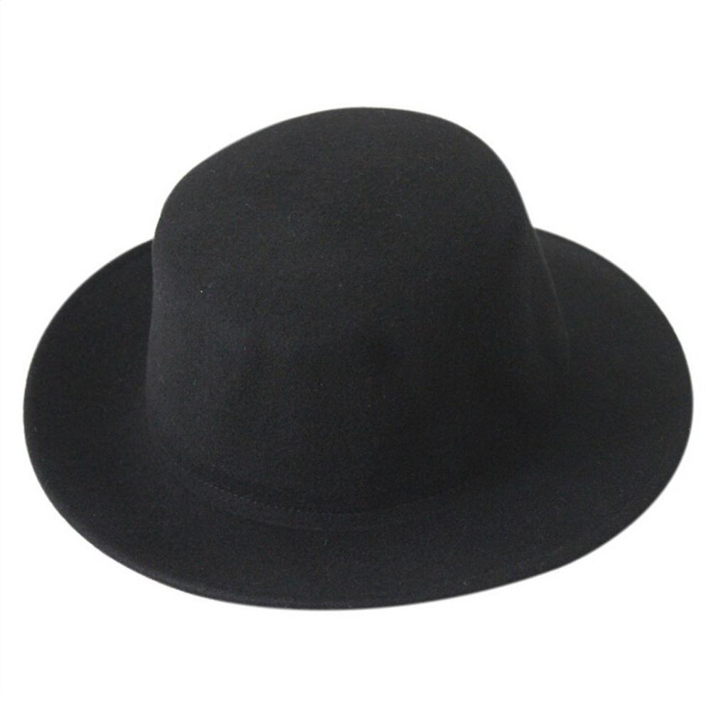 64ef0cb441835 Jugador de bolos de las mujeres de los hombres de fieltro de lana puede  aplastarlos sombrero