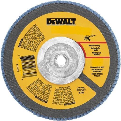 DEWALT DWA8208H 80 Grit Zirconia T29 Flap Disc, 4-1/2-Inch x 5/8-11-Inch