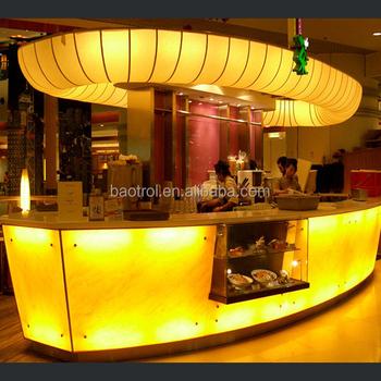 Ship Design U Shaped Free Standing Modern Bar Counter