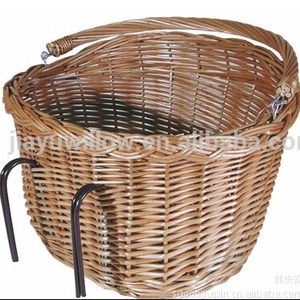 practical and durable bicycle basket wicker storage holder