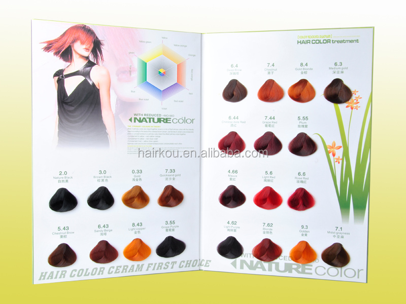 salon professional hair color dye chart - Hair Color Swatch Book