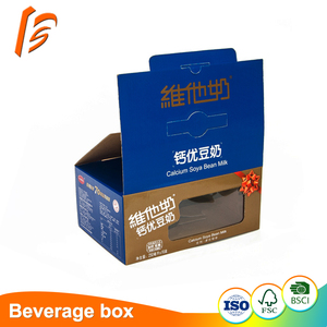custom standard size paper milk carton corrugated packaging box