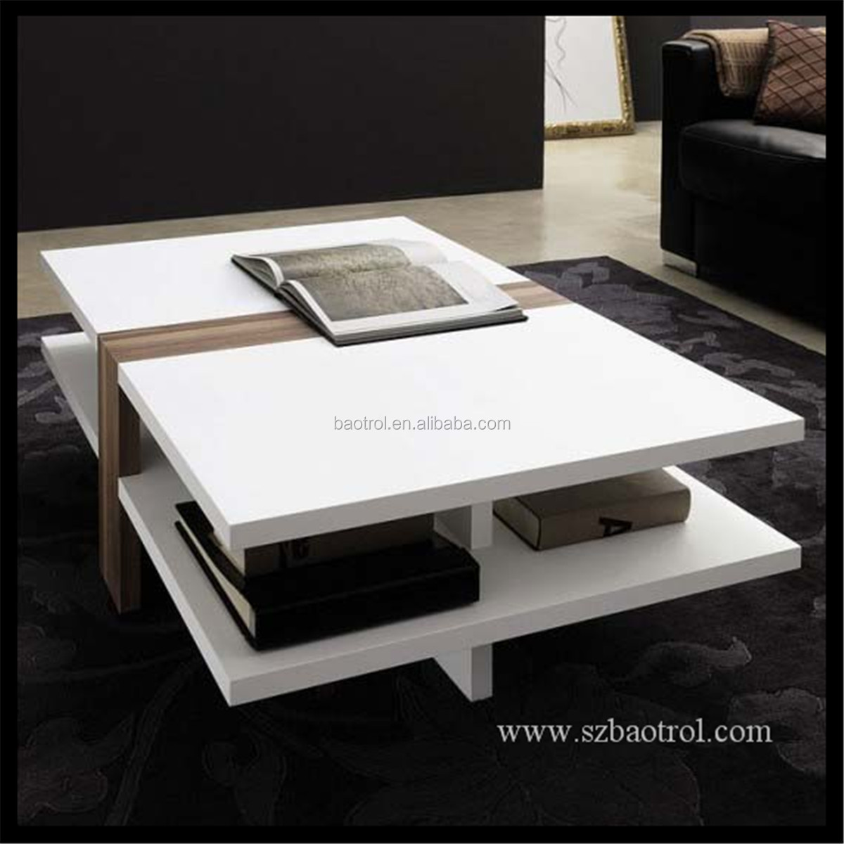Newest Design Pure White Tea Table Marble Top Tea Table Wholesale