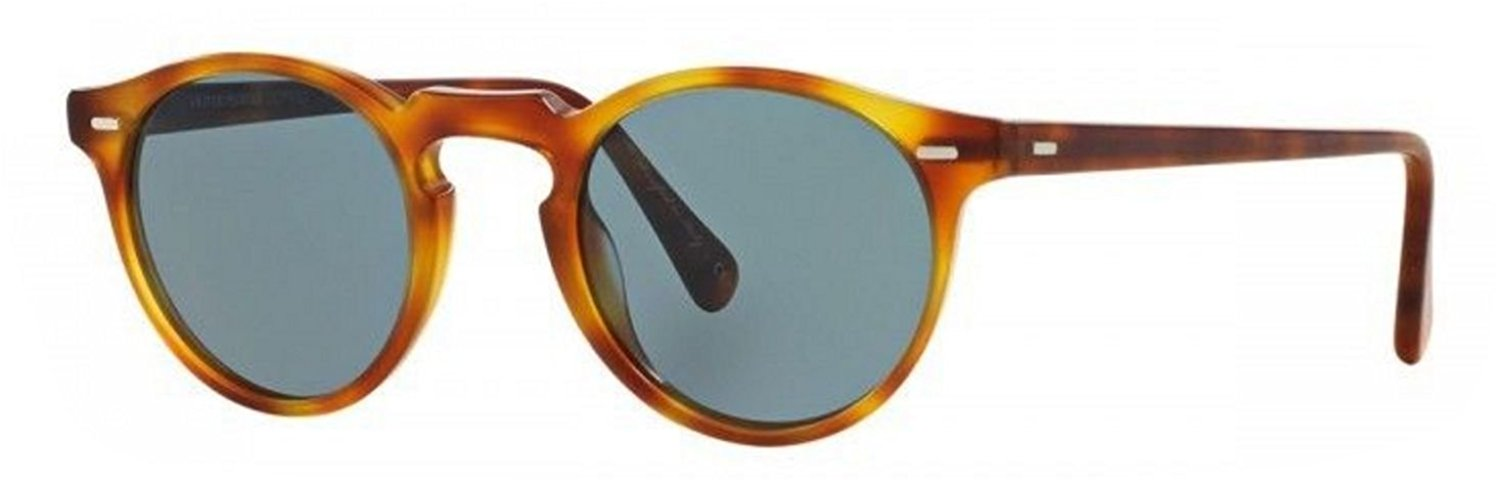 3565a84618 New Oliver Peoples OV 5217S 1483R8 GREGORY PECK Sun Brown Indigo Sunglasses