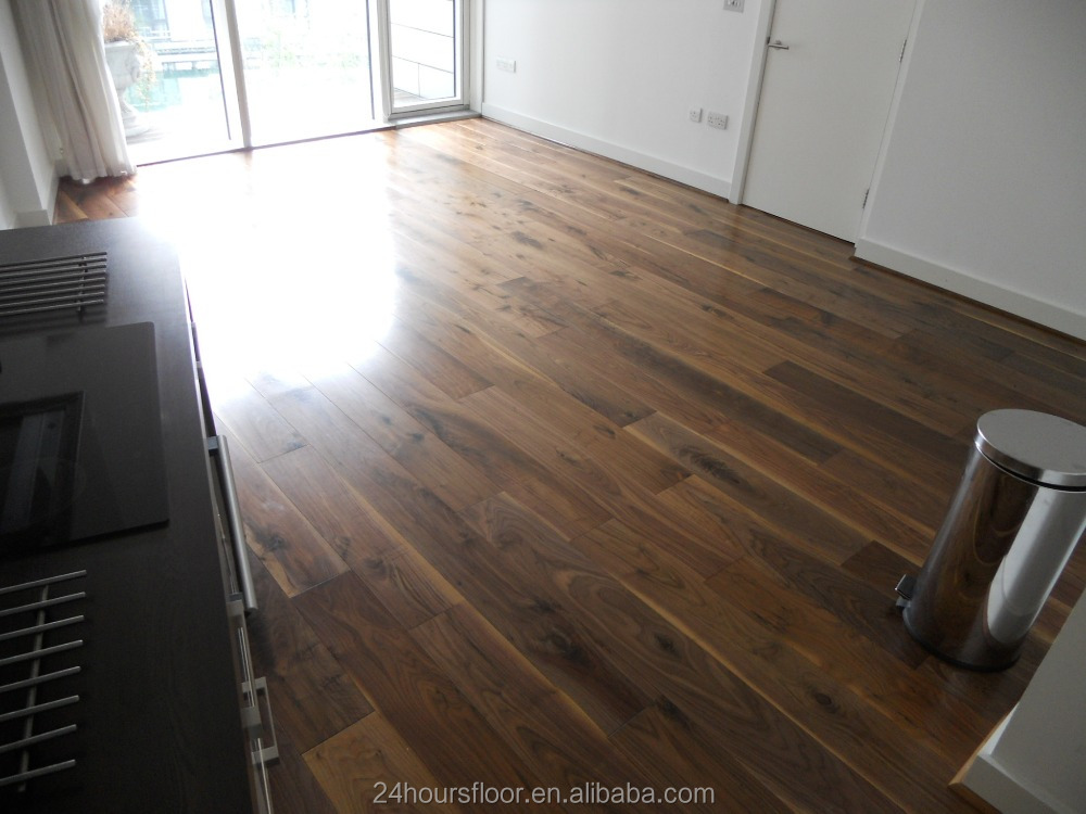 Best price smooth black walnut engineered hardwood floor