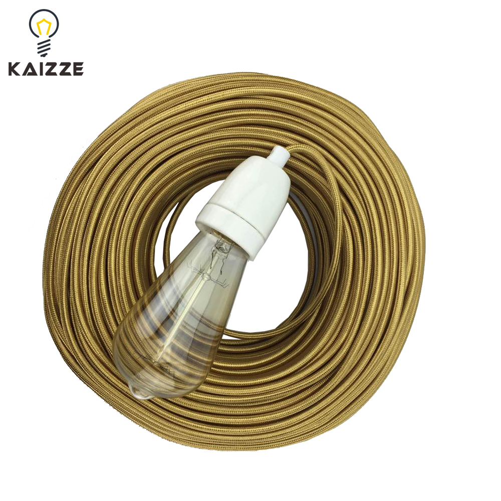 Colorful cotton fabric round Electrical wire/Power cable CE/VDE/SAA certificate