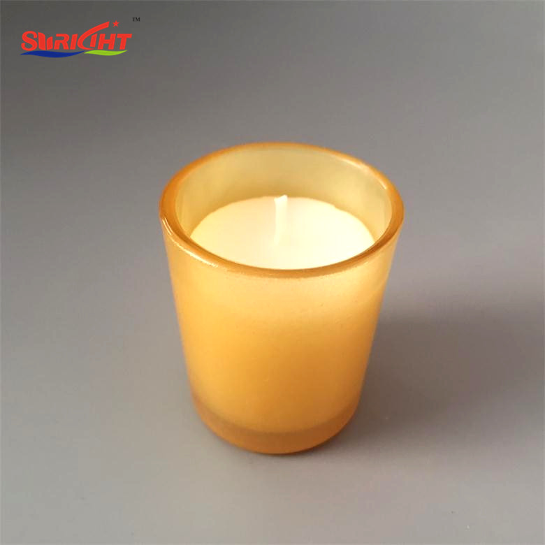 Laurel Christmas Decoration Gift Set Gold Glass Jar Candle