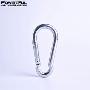 Hot Selling Metal Carabiner D type Handbag Flat Aluminum Snap Hook