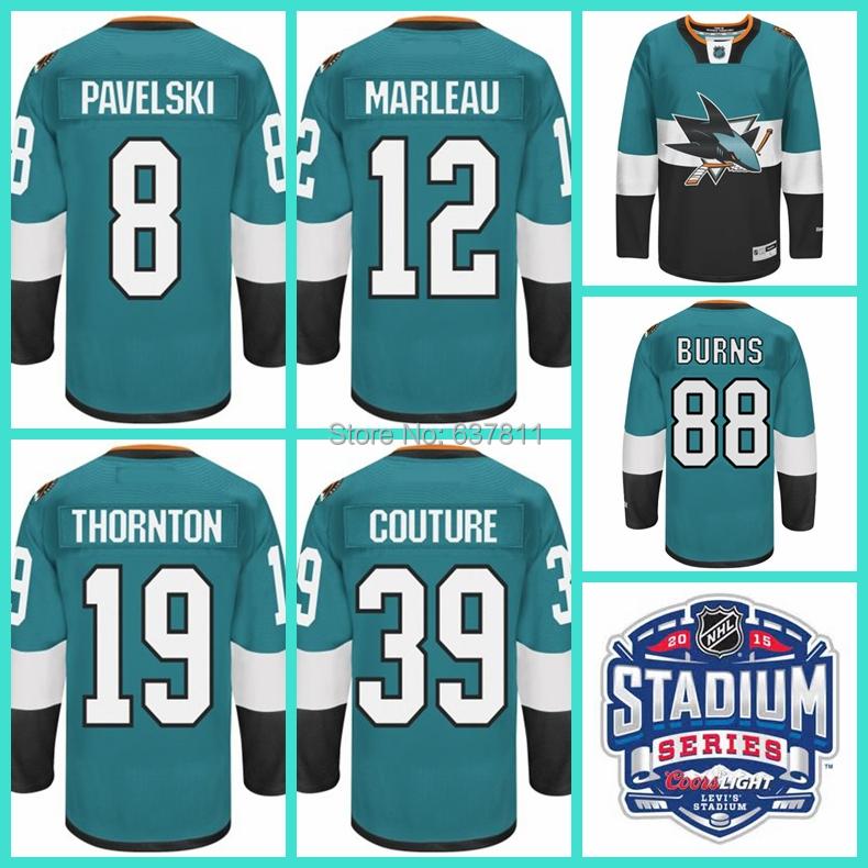 cheap for discount b5ae8 b629b nhl jerseys san jose sharks 19 joe thornton stitched blue ...