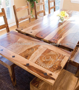 Extension Natural Wooden Dining Table