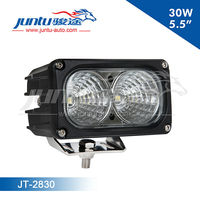 2*15w 5.5inch 9-32v 2850lm 0.6A@12V 0.11A@24V CREE IP67 Waterproof led truck work lights