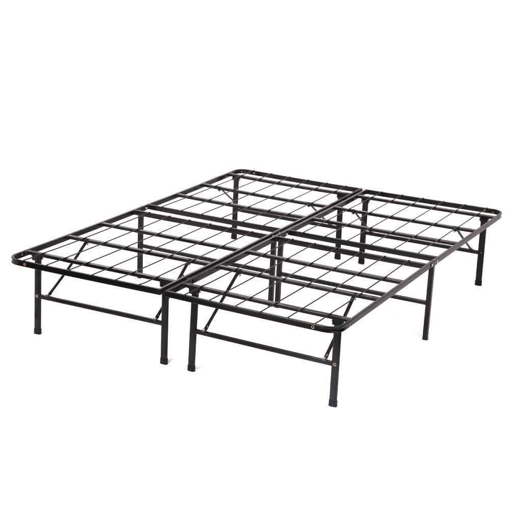 Oho Modern Bi-Fold Folding Platform Metal Bed Frame Mattress Foundation Bf Under-Bed Storage