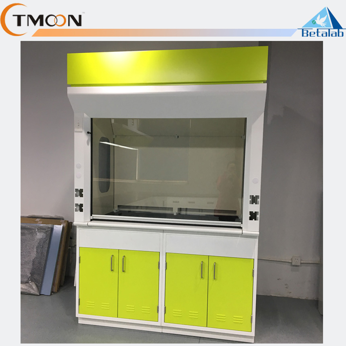 Modern design laboratory equipment fume hood ventilation chemical bench top steel fume hood with sink fume hood exhaust price