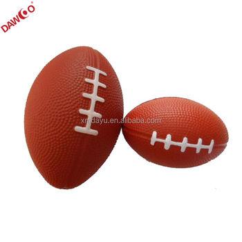 Mini Soft Pu Foam Rugby Stress Ball