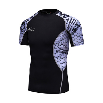 Cody lundin men sports clothes custom run printing swim bjj rashguard mma