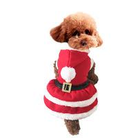 Christmas santa pet dog costumes pet winter dress