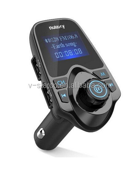 Wholesale T11 Handfree Dual USB Car Charger car radio mp3 fm am transmitter