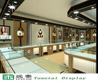 Carving glass jewelry display counter/cabinet mall design