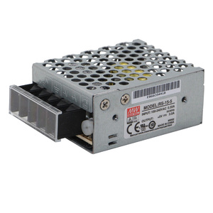 Meanwell 15W Switching Power Supply 5V 3A RS-15-5 Mini Size SMPS AC DC  Converter